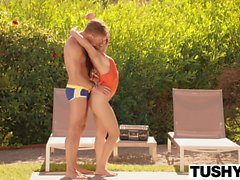 TUSHY Jynx Maze takes the biggest in her ass