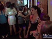 Hardcore nightclub party mettant en vedette lusty fillies
