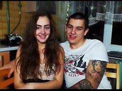 Amatoriale Pompini fidanzata pigtailed