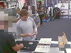 Pawn amateur spitroasted for cash