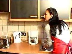 Dona de casa alemã tem sexo na cozinha