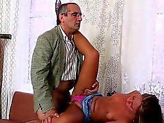 Slutty teacher devouring lass