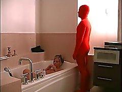 Slave's Bathroom Handjob
