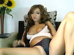 Busty asian babe Mya Luanna deepthroating a huge hard dick