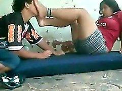 Árabe pies Ser adorada por videochat con individuo