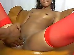 Small tits on Latin girl getting fucked by her man