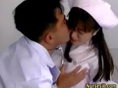 Asya doktor ve hemşire foreplaying