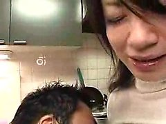 Dazzling Japanese chick has her horny lover tasting her jui