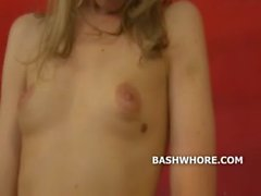 Amateur teen blonde turned into a whore
