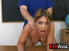 Asian Student Fucked Doggystyle