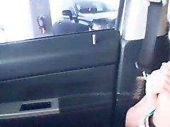 Многожильный подростков Staci Эндрю толченый внутри автомобиля