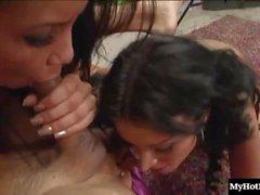 Corroyeur Mayes et Nikki Cruz partagent une bite