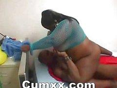 Nice Ebony Sabrina In Lovely Thongs