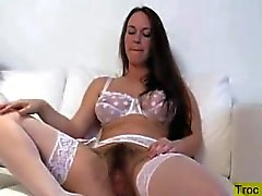 Erin Showing Her Hairy Pussy By Troc