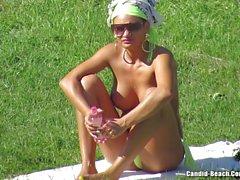 Topless kızları Plaj Voyeur video