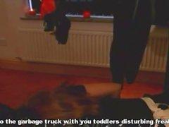 Lateks Bayan hizmetçi Luder - und verbrennen totpressen Scheiss Transvestitenschweine