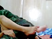 Thai Army Guy Barefuck Handsome friend.