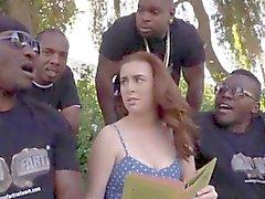 Di quattro dude nera inculare a Jessie di Parker con le loro grandi i cazzi choco