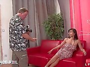 Casting of a french milf sodomized in 3some