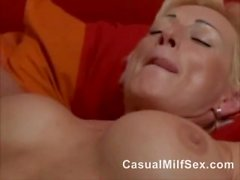 Old Sexy Mature MOM from CasualMilfSex(dot)com fucked by son's best friend