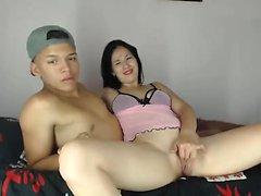 Hot Teen Fingersatz in Webcam