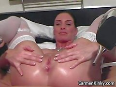 Juggs Carmen fornicate her crazy snatch part3