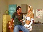 Nikki Benz gigantiska blonda tits glaserade