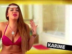 Karime Pindter desnuda en la ducha Super Shore