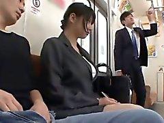 Hana Haruna'ya berbat ile Otobüste dicks gezintileri