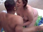 BBW cuckold wife makes a cum on her husband that is pervy