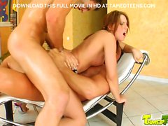Mega ass Suzane gets fucked right by two cocks. There is lot of deep throating and crazy ass fucking in this wild Tamedteens movie