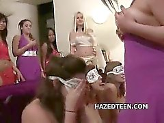 Teen girls naked at sex hazing party