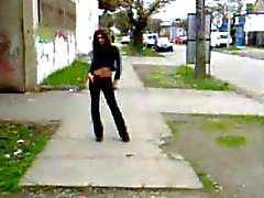 Teenager Tranny walking street