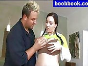 big lactating boobs licking and grope