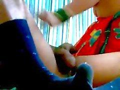 Heet indisch Aunty BJ aan haar Partner COCK en ASS hem neuken