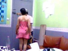 Indian with pretty black bikini panties-qp