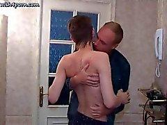 Kinky dude ties up a skinny twink