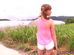 Japon beach babe cum kadar doggystyled