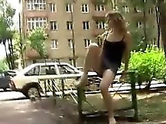 Russian Woman Flashing