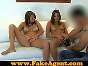 FakeAgent Horny teen amateurs fucked in casting
