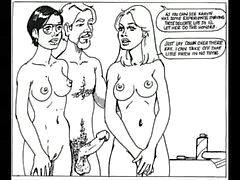 Vackra kvinnan låter sig att användas av det onda sex
