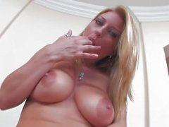 Avy strips off a sexy dress in this erotic solo - Scene 1