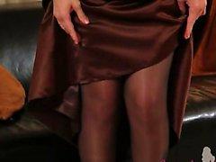 Meia-calça preta e ultra lotação quente