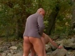 ROUGH FUCK #38 Thick Big Butt Granny at the Beach