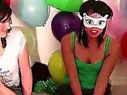 De lésbicas jogada dentro jogo de partido do no grupo dos amadores