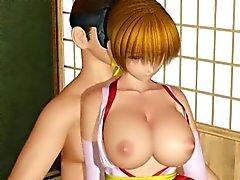 Chicas chica del hentai 3D se torturada 3some