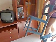 Hausfrau na Nylons do und de salto alto 01 de