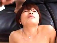 Two slutty Japanese babes get used and abused by a pair of
