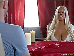 Busty fortune teller Bridgette B is cock hungry