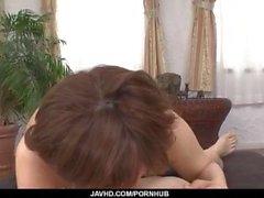 Ririsu Ayaka räjähtää herkullisia kukko POV style